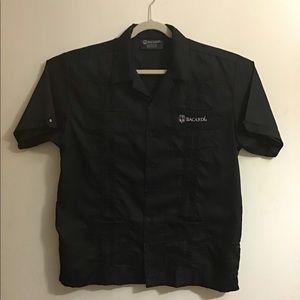 Bacardi Black guayabera shirt. Large